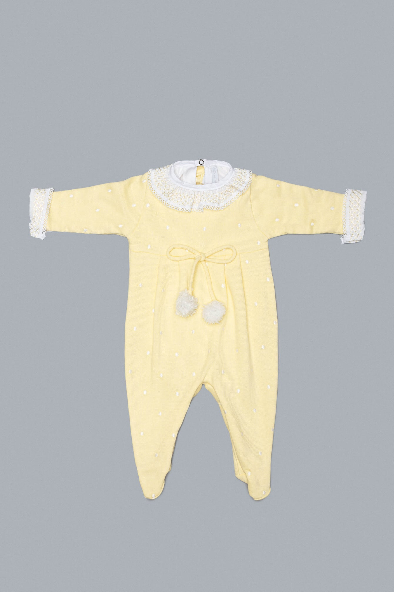Yellow and White Babygrow Set for Girls