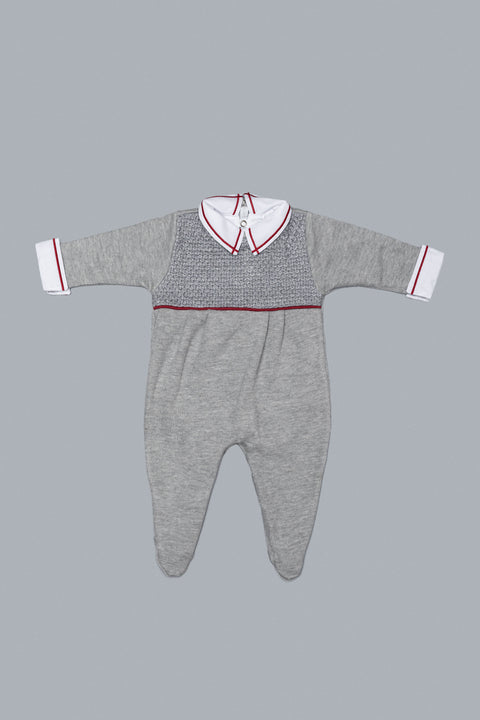 Grey and Cherry Babygrow Set for Boys and Girls