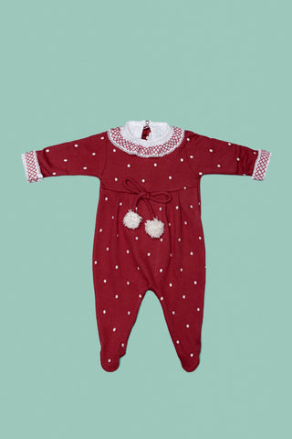 Cherry and White Babygrow Set for Girls