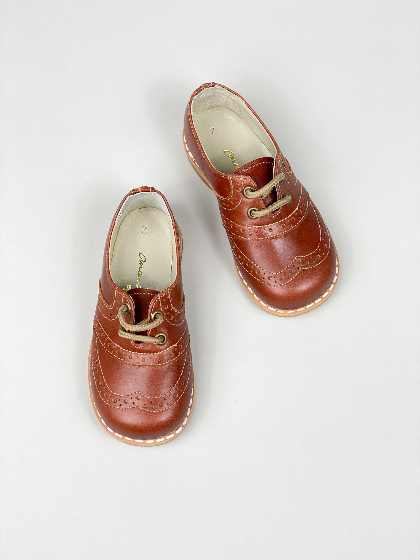Ananás Brown Leather Brogues