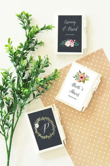 Personalized Floral Garden Notebook