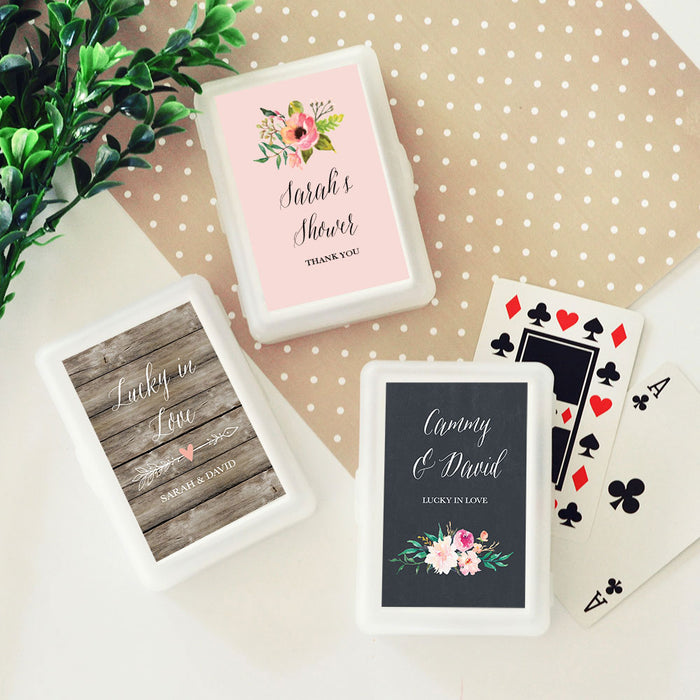 Personalized Playing Cards- Floral Theme