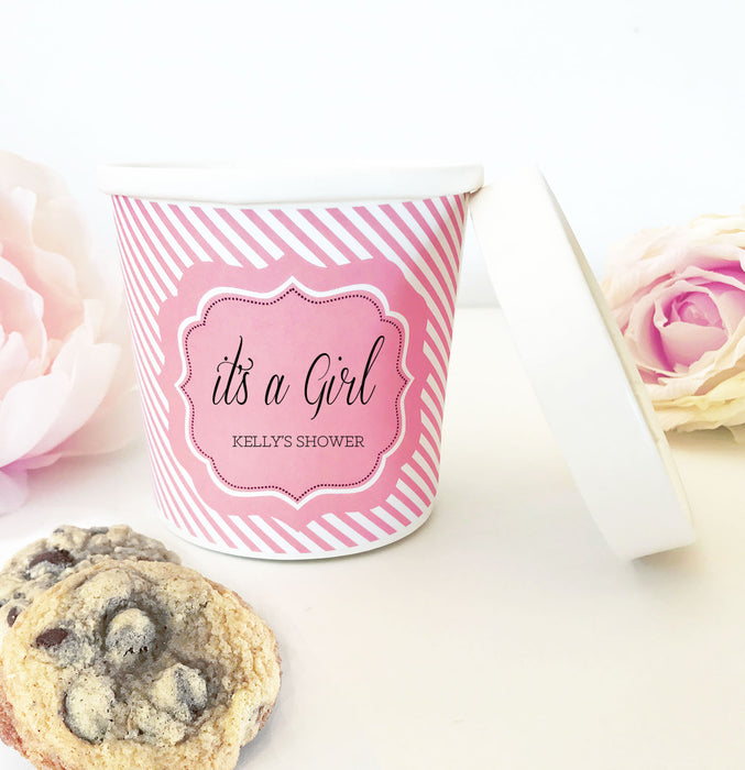 Personalized Mini Ice Cream Containers (Set of 24)