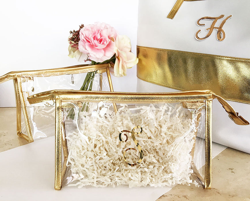 Personalized Clear Cosmetic Bags- Monogram