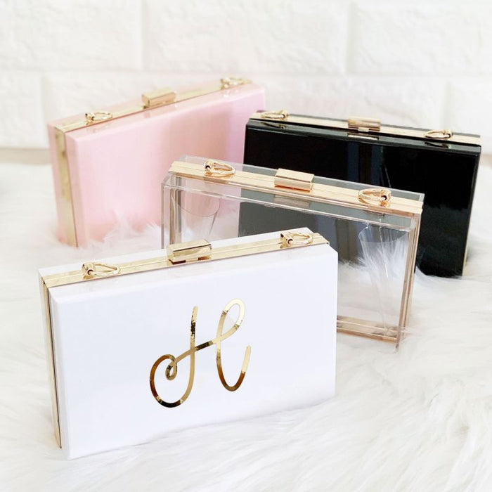 Personalized Acrylic Clutch/Purse- Monogram