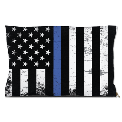 Thin Blue Line Dog Bed