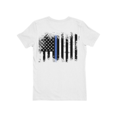 Ladie's Boyfriend Tee Thin Blue Line