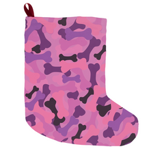 Bone Camo Pink Christmas Stocking