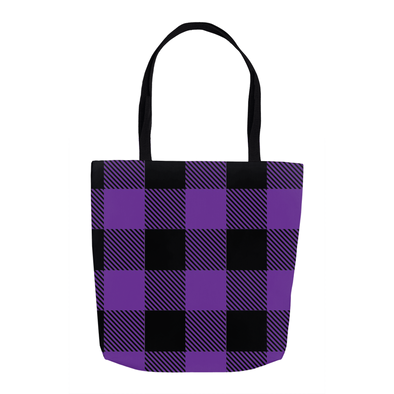 Purple Plaid Tote