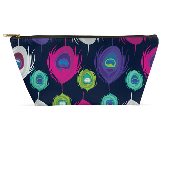 Peacock Splash Accessory Pouch
