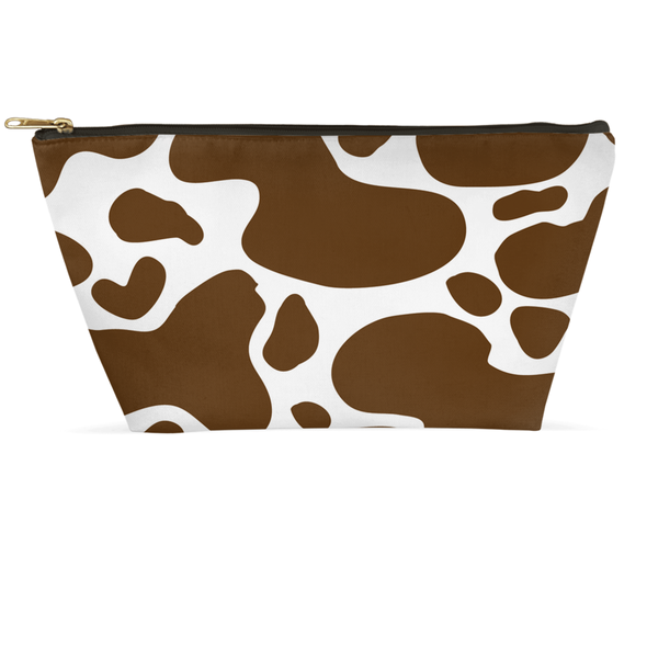 Cowhide Brown Accessory Pouch