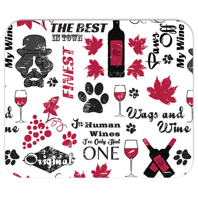 Wags and Wine Mousepad