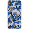 Bone Camo Blue Phone Cases