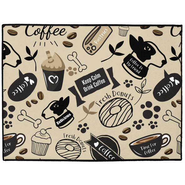 Caffeinated Canine Dog Mat