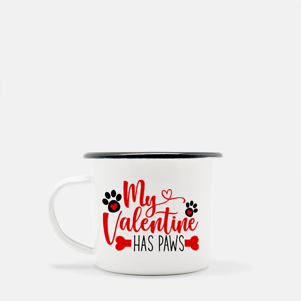 my valentine has paw camp fire mug