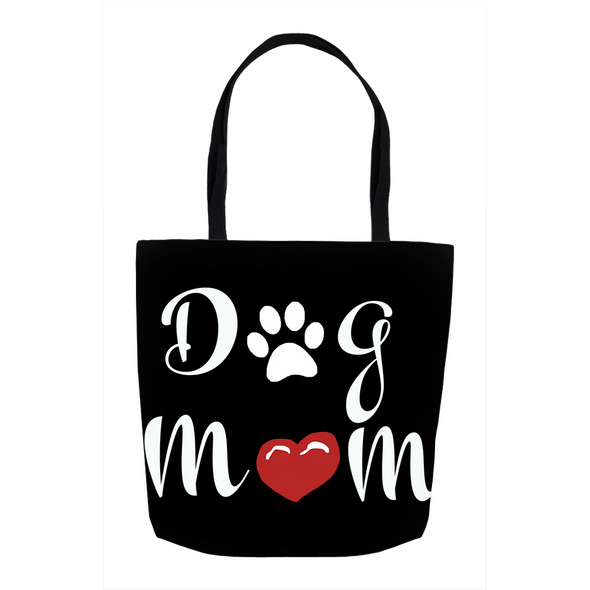 Dog Mom Black Tote