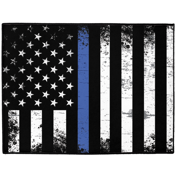 Thin Blue Line Dog Mat