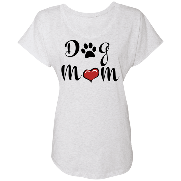Ladies Dolman Sleeve Dog Mom T-Shirt