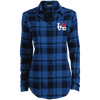Ladies' Plaid Flannel Tunic Love Paw