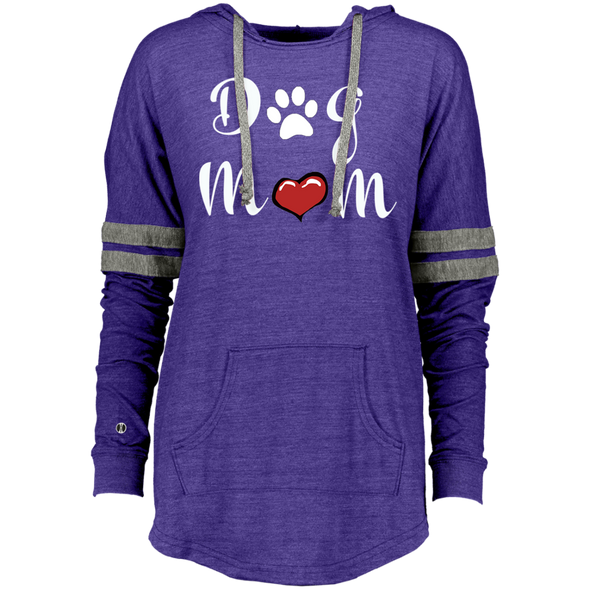 Ladies Hooded Pullover Dog Mom