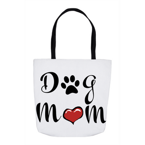 Dog Mom White Tote