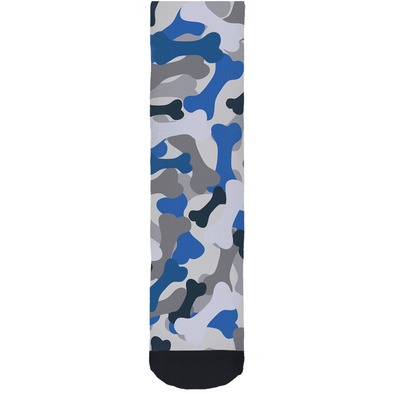 Bone Camo Blue Socks