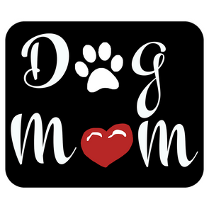 Dog Mom Heart Mousepad