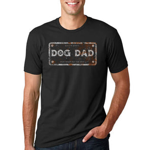 Short Sleeve T-Shirt Dog Dad License