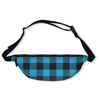 Buffalo Plaid Blue Fanny Pack