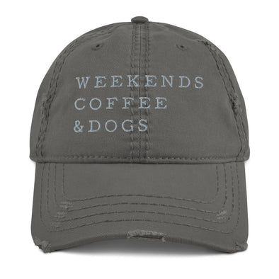 Weekends, Coffee & Dogs Distressed Hat