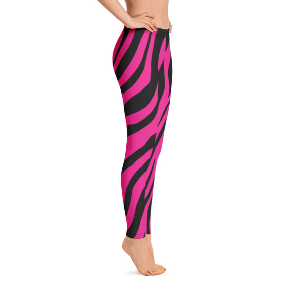 Zebra Print Pink Leggings