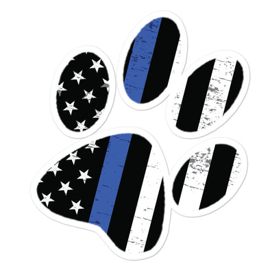 Thin Blue Line Paw Sticker