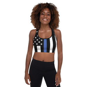 Thin Blue Line Padded Sports Bra