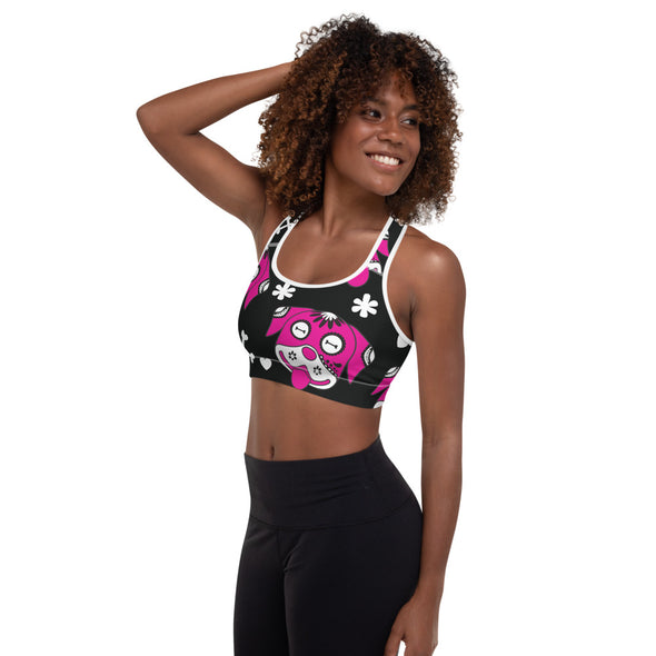 Day of the Dog Pink Padded Sports Bra