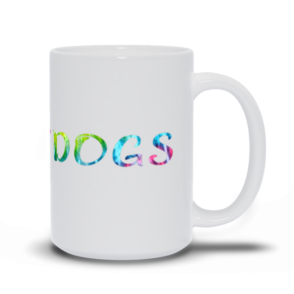 Peace, Love, Dogs Mug