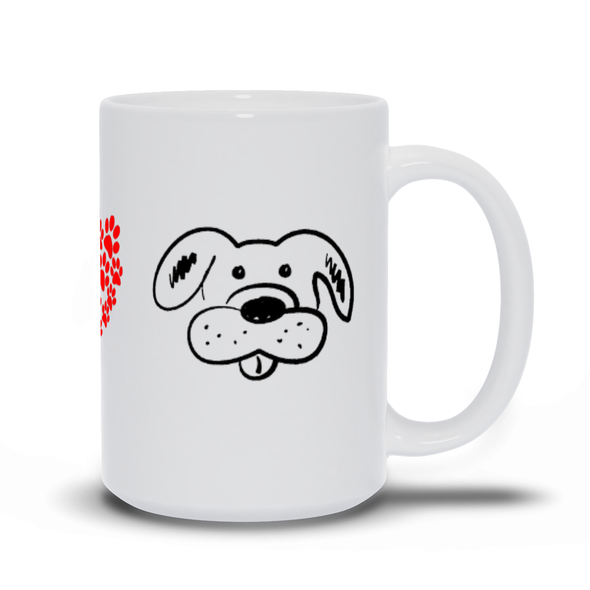 Peace, Love, Dog Mug