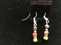 Multicolor Cultured Pearls and Silver Beaded Dangle Earrings