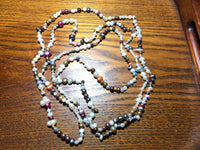 64 Inch Natural Cultured Pearl Multicolor Multi Shape Beaded Necklace
