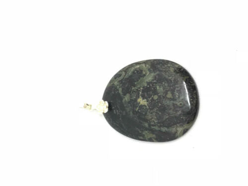 Natural Kambaba Jasper Gemstone Oval Sterling Silver Pendant