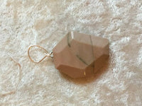Natural Imperial Jasper Gemstone Carved Hexagon Pendant