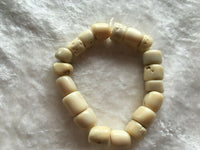 natural bamboo coral rondelles beaded stretch bracelet