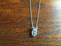 Dainty Silvertone and Clear Crystal Owl Pendant on Adjustable Necklace