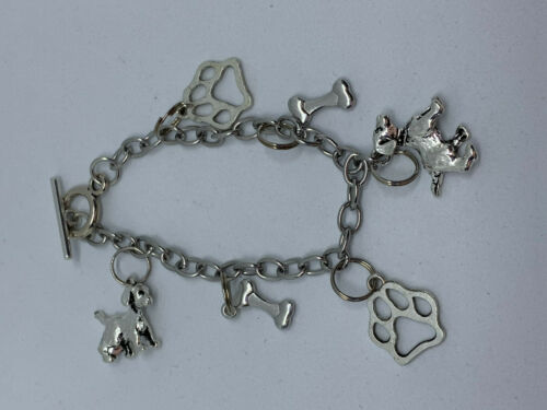 Dog Breed Charm Bracelet Bassethound Chihuahua Dachshund, Greyhound Labrador