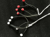 Adjustable Macrame Bracelet with Red or White Roses