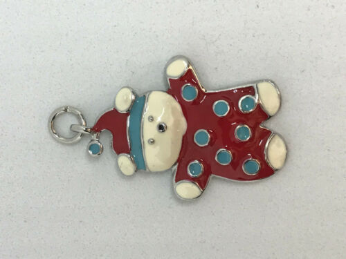Cute Christmas Enamelled White Polar Bear Pendant