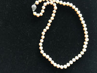 "18"" Cultured Freshwater Pearl Beaded Necklaces Choice of Cream Bronze Pink"