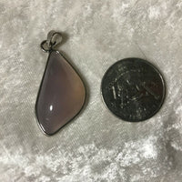 Natural Purple Agate Gemstone Freeform Cabochon Pendant