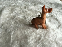 natural soapstone gemstone carved llama pendant