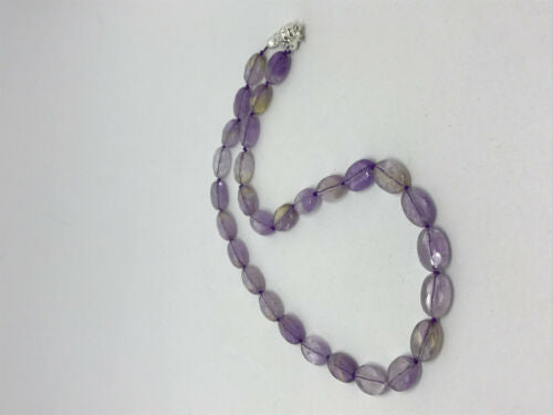 Natural Ametrine Gemstone Ovals Beaded Necklace