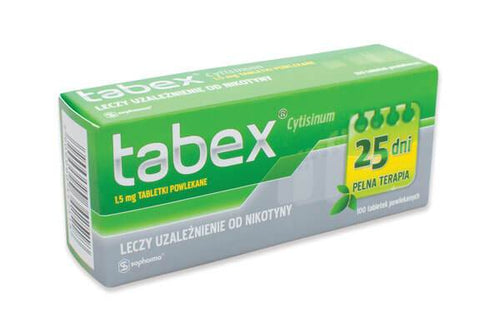 1 x Tabex (100 x 1.5mg). One month course. Tabex Quit Smoking.